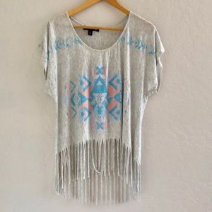 🌵Aztec fringe top